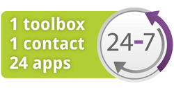 1 toolbox, 1 contact 24 apps